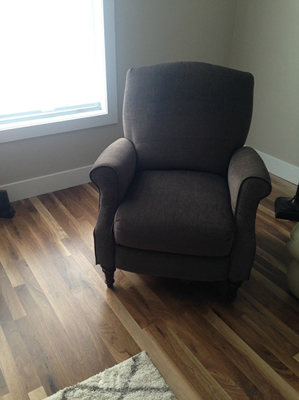 Chair on hardwood floors