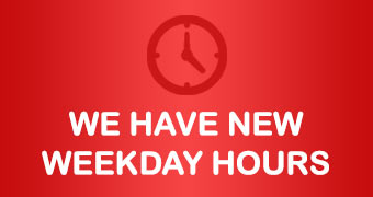 We have new weekday hours