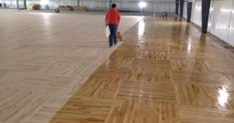 Carver Hawkeye Arena Floor Time Lapse