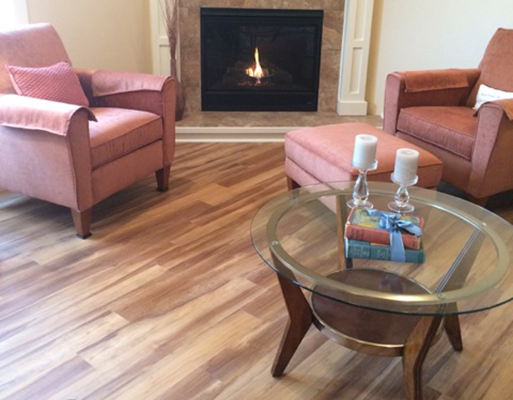 LVT flooring project completed by Phillips' Floors.
